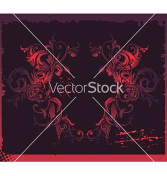 Free baroque floral frame vector - Free vector #252769
