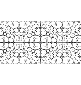 Free wrought iron seamless pattern vector - Free vector #253029