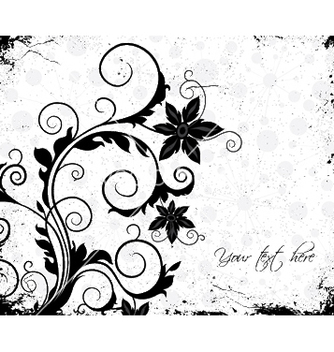 Free grunge floral background vector - vector gratuit #253469