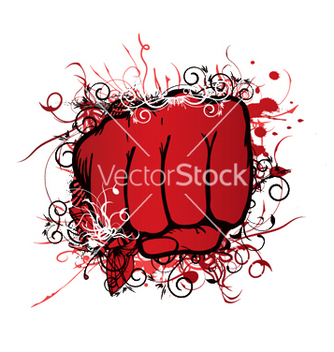 Free fist with floral vector - Free vector #253519