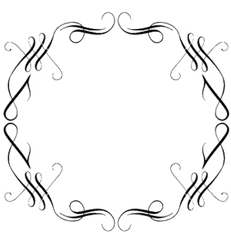 Free vintage calligraphic frame vector - Kostenloses vector #253629