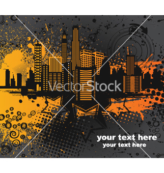 Free city with grunge vector - Kostenloses vector #253639