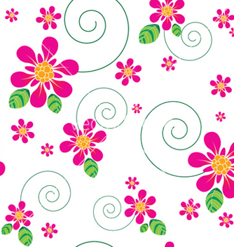 Free abstract seamless floral background vector - Kostenloses vector #253689