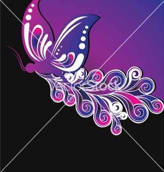 Free floral background with butterfly vector - Kostenloses vector #253869