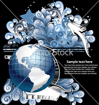 Free globe with floral and grunge vector - бесплатный vector #253929