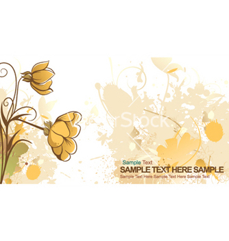 Free grunge floral background vector - vector gratuit #254059