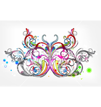 Free butterfly with circles vector - vector #254099 gratis