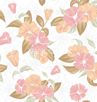 Free vintage floral pattern vector - Free vector #254299