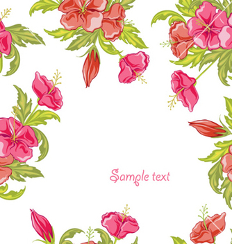 Free spring colorful floral background vector - Free vector #254339