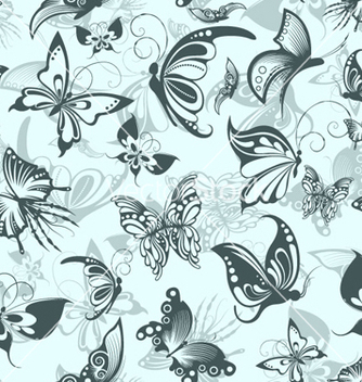 Free seamless pattern with butterflies vector - Kostenloses vector #254349