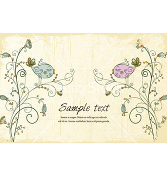 Free birds with floral vector - Kostenloses vector #254399