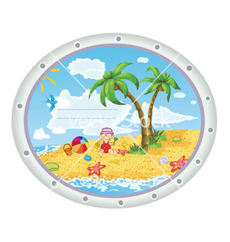 Free kid playing at the beach vector - Free vector #254409