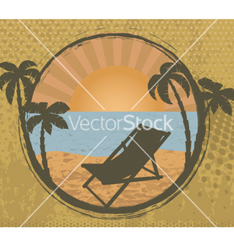 Free grunge summer frame vector - Free vector #254469