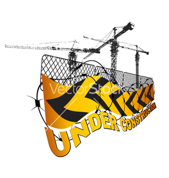 Free under construction sign vector - vector gratuit #254489