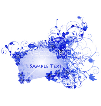 Free grunge floral frame vector - Kostenloses vector #254559