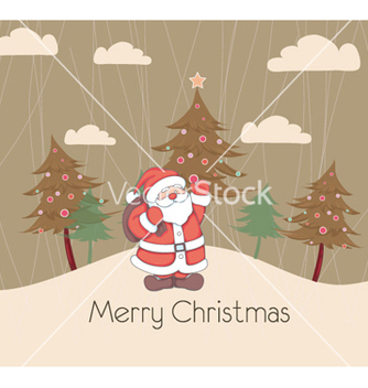 Free christmas greeting card vector - vector #254669 gratis