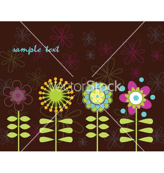 Free retro floral background vector - vector gratuit #254699