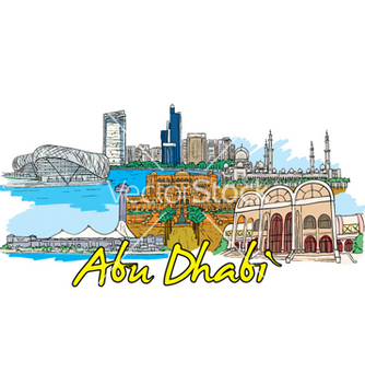 Free abu dhabi doodles vector - Free vector #254809