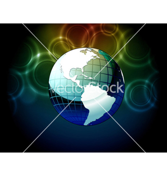 Free earth globe with bokeh background vector - Free vector #254839