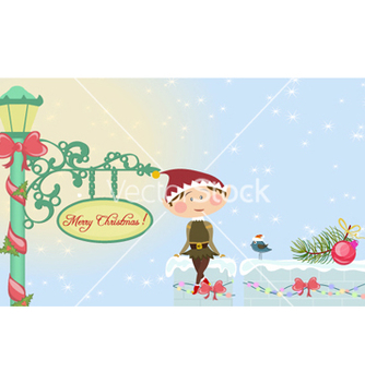 Free christmas card vector - Free vector #254869