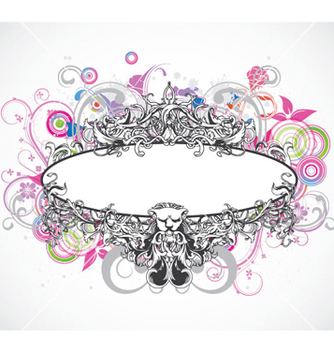 Free colorful floral frame vector - Free vector #254879