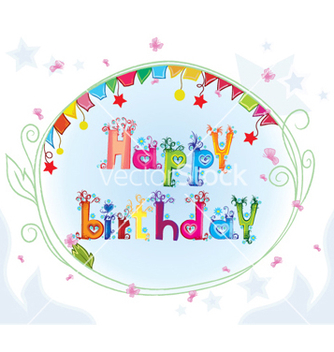 Free happy birthday vector - Kostenloses vector #254909