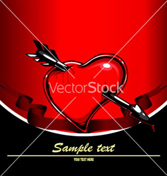Free valentines background with heart vector - Free vector #254999