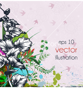 Free abstract floral background vector - Free vector #255129