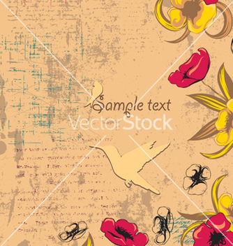 Free grunge floral background vector - vector gratuit #255229