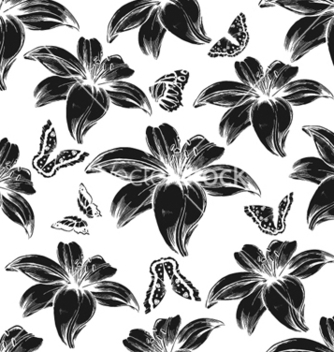 Free vintage floral pattern vector - Free vector #255249