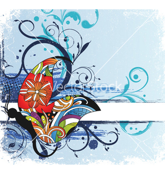 Free abstract floral background vector - vector #255479 gratis