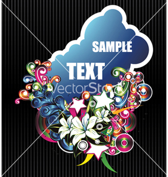 Free abstract floral frame vector - Free vector #255679