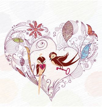 Free love birds vector - Free vector #255909