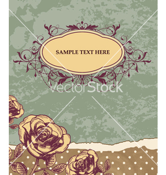 Free vintage floral background vector - vector #255979 gratis