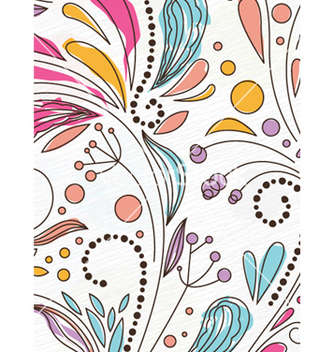 Free doodles floral background vector - Free vector #256039