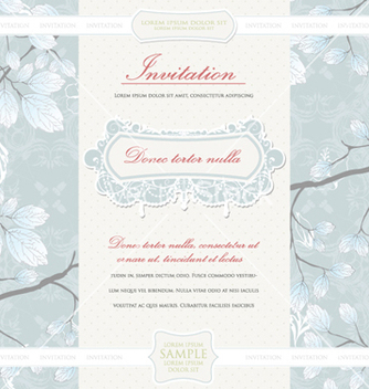 Free vintage invitation vector - бесплатный vector #256059
