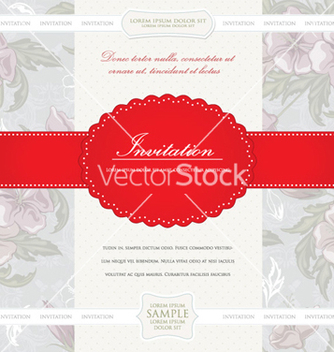 Free vintage invitation vector - бесплатный vector #256149