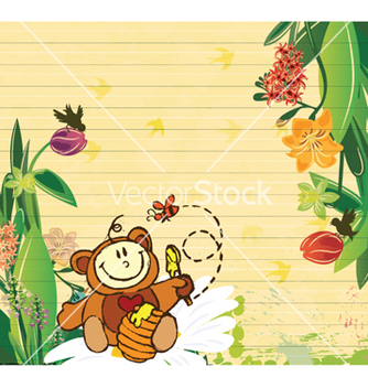 Free little boy with floral vector - vector gratuit #256309