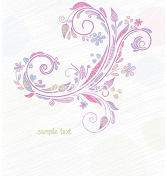 Free doodles floral background vector - Free vector #256439