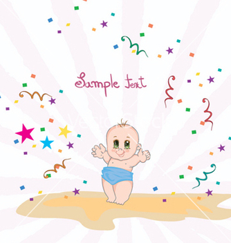 Free baby with rays vector - Free vector #256579
