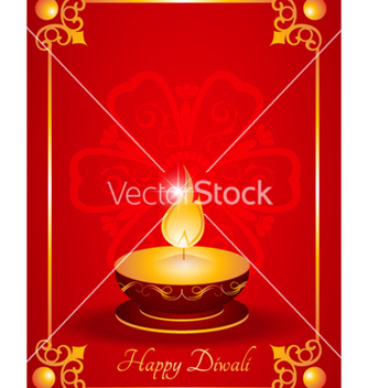 Free diwali greeting card vector - Free vector #256679