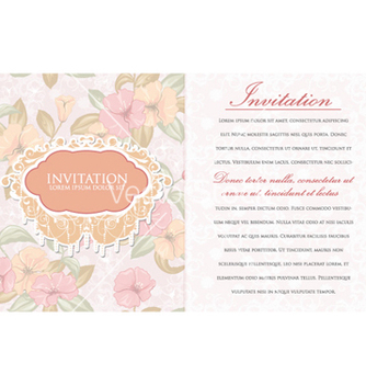 Free vintage invitation vector - бесплатный vector #256719
