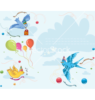 Free birthday party vector - vector gratuit #256859