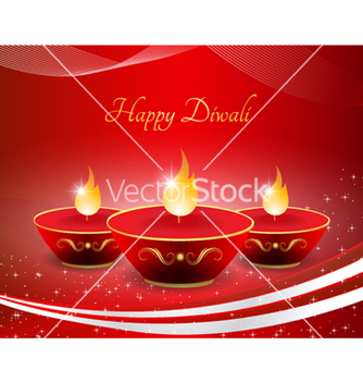 Free diwali greeting card vector - Free vector #256929