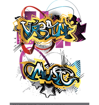 Free graffiti text vector - vector gratuit #256949