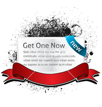 Free glossy banner with grunge vector - Free vector #256999