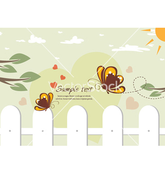 Free butterflies in love vector - vector #257089 gratis