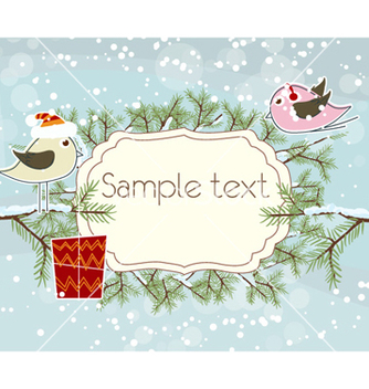 Free christmas greeting card vector - Kostenloses vector #257109