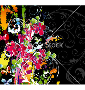 Free colorful floral background vector - бесплатный vector #257199