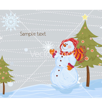 Free christmas greeting card vector - Free vector #257229